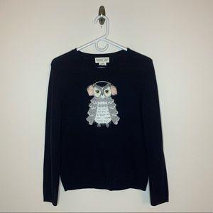Kate Spade Broome Street owl sweater